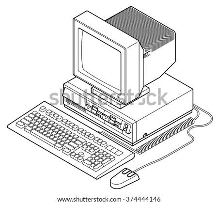 Retro Mainframe Computer Setup Processor Cabinet Stock