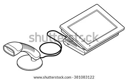 Handheld Barcode Scanner, Handheld, Free Engine Image For