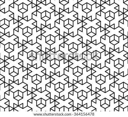 Vector Modern Seamless Sacred Geometry Pattern Stock