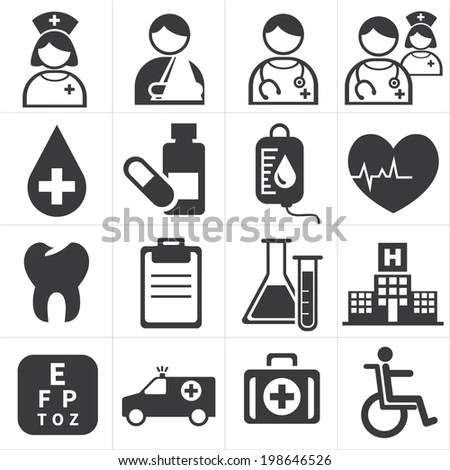 Health Care Icons Medical Illustration Stock Vector