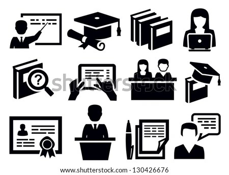 Education Icon Stock Photos, Royalty-Free Images & Vectors