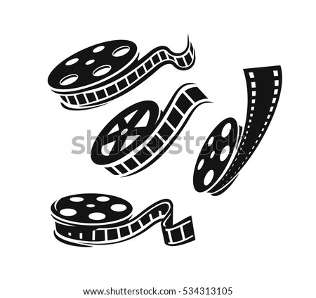 Film Roll Logo Vector Black Cinema Stock Vector 534313105
