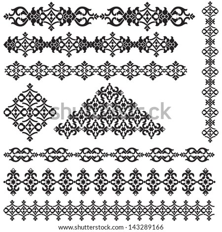 Gothic Style Lace Seamless Lace Patterns Stock Vector