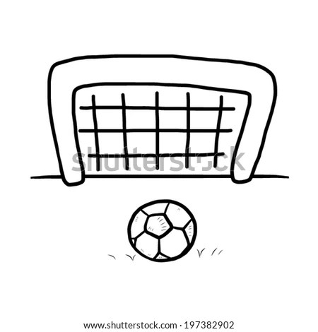 Outline Soccer Gate Ball Stock Illustration 23198734
