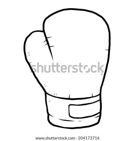 single boxing glove / cartoon vector and illustration