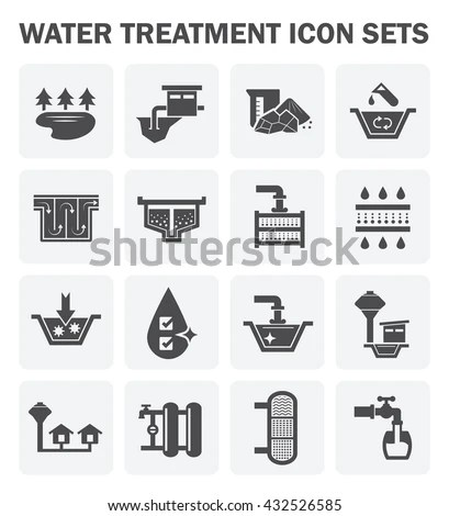 Water Treatment System Water Filter Vector Stock Vector