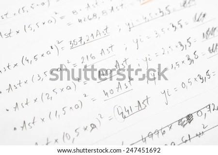 Math Geometry Background Formulas Math Number Stock Photo
