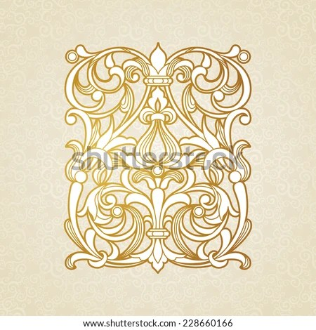 Vector Ornate Pattern Victorian Style Baroque Stock Vector