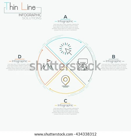 Business Infographicstimeline 3 Parts Stock Vector