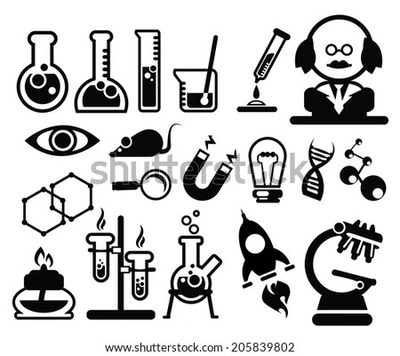 Trendy Biology Science Symbols Simple Icon Stock Vector