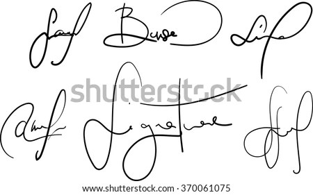 Vector Signatures Collection Fictional Contract Signatures
