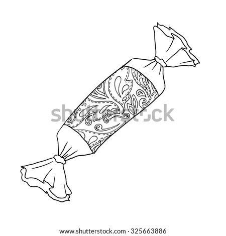 Black vector mono color illustration for Merry Christmas