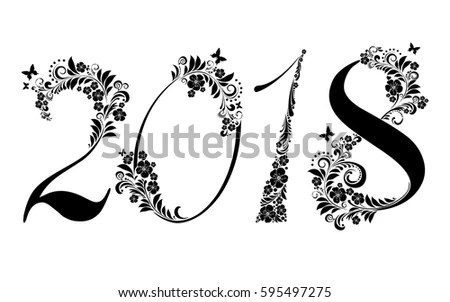 Happy New Year 2018 Vector Illustration Stock Vector