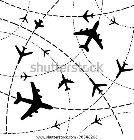 Illustration Airplane Drawing Heart Shape Sky Stock