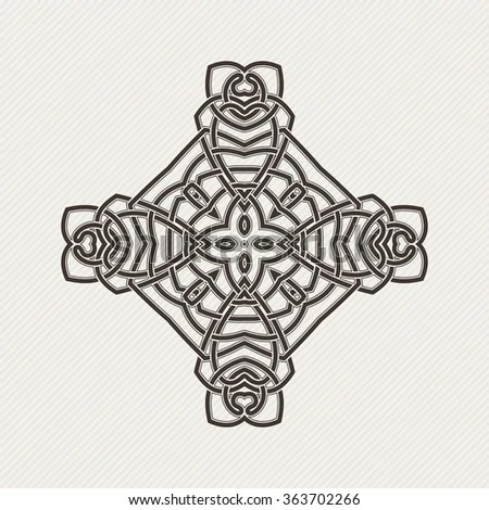 Owl Outline Emblem Geometric Hipster Style Stock