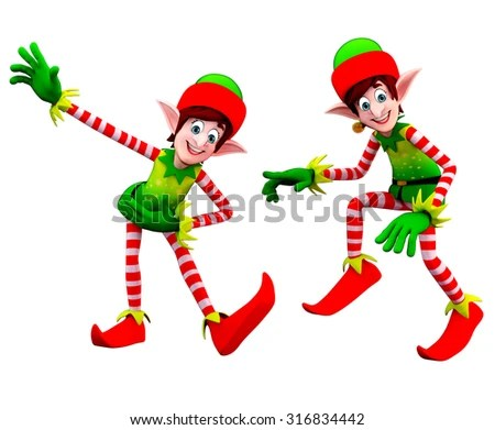 3d rendered illustration of elves - stock photo