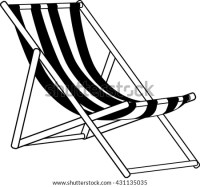 Graphic Monochrome Striped Beach Lounger Isolated Stock ...