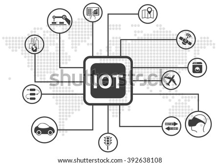 Iot Internet Things Infographic Vector Illustration 스톡 벡터