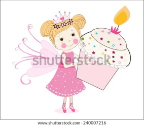 holding cupcake cartoon fairy vector baking tale cute shutterstock