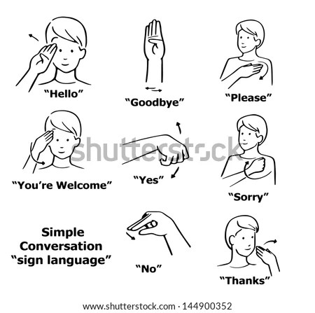 Sign Language Stock Images, Royalty-Free Images & Vectors