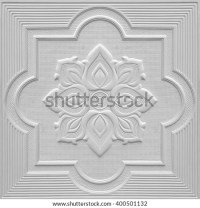 Patterns On Ceiling Gypsum Sheets White Stock Photo ...