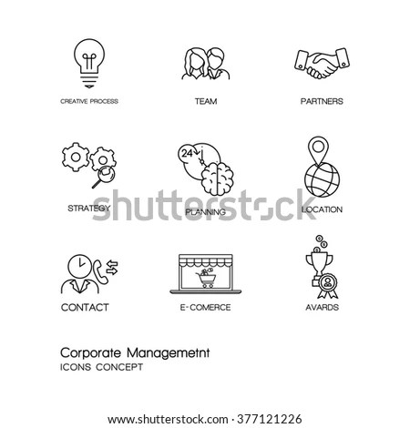 Business Management Icons Pack 08 Stock Vector 396635851