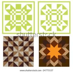 quilt vector blocks four illustration shutterstock