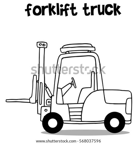 Forklift Cartoon Stock Images, Royalty-Free Images