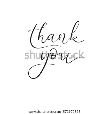 Thank You Hand Lettering Inscription Thank Stock Vector