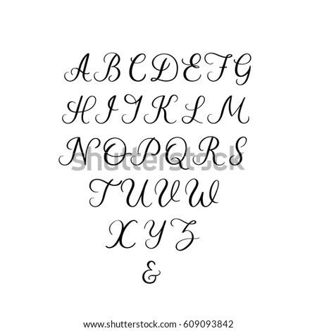 Calligraphy Alphabet Stock Images, Royalty-Free Images