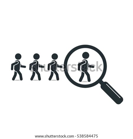 Search Leader Business Concept Magnifying Glass Stock