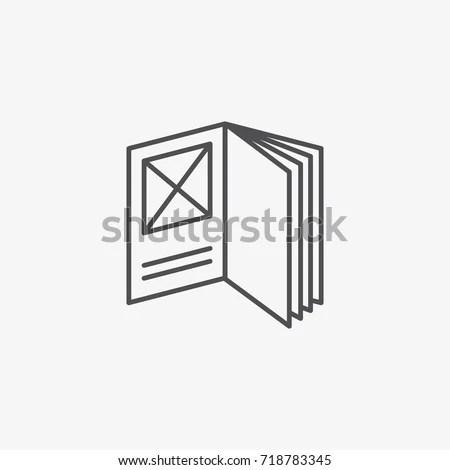 Booklet Vector Icon Flat Catalogue Vector Stock Vector