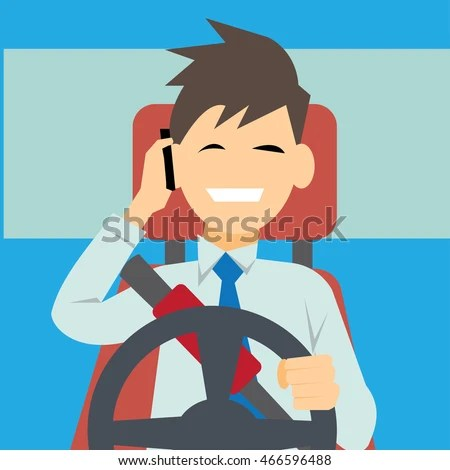 vehicle diagram clip art 2003 nissan sentra wiring driver using phone while driving safety stock vector 466596488 - shutterstock