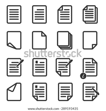 Paper Icon Document Icon Vector EPS 10 Stock Vector