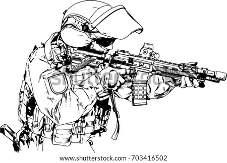 Guns Military Sketches Drawings Pictures to Pin on