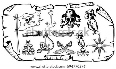 Treasure Map Stock Images, Royalty-Free Images & Vectors