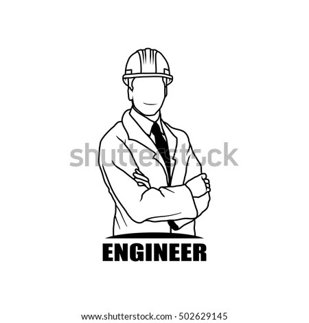 Engineer Drawing Vector Logo Icon Clipart Stock Vector