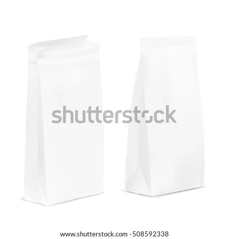 Open Close White Blank Plastic Paper Stock Vector