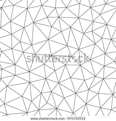 Seamless Pattern Irregular Triangle Grid Stylish Stock
