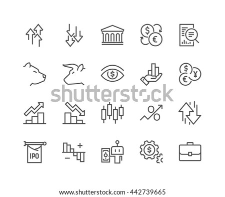 Simple Set Stock Market Related Vector Stock Vector