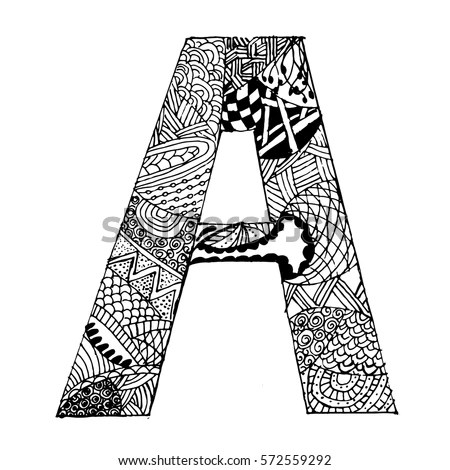 Zentangle Letters Stock Images, Royalty-Free Images
