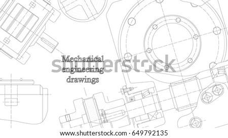 Mechanical Engineering Drawings Vector Engineering