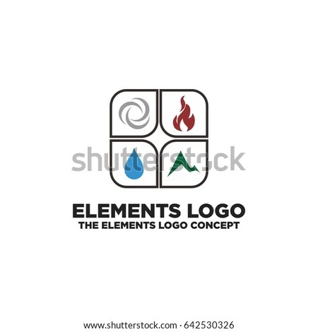 Heating Cooling Company Fire Water Drop Stock Vector
