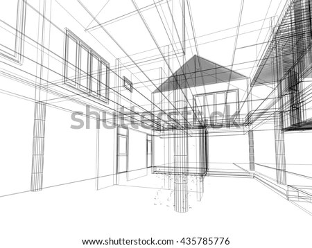Interior Design Sketch Stock Images, Royalty-Free Images