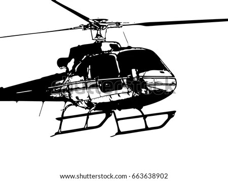 Vector Apache Longbow Helicopter Stock Vector 455820730