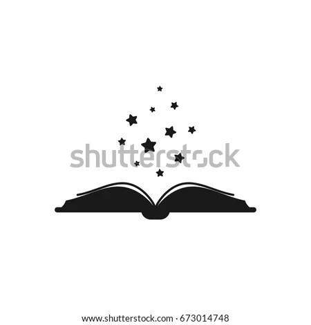 Open Book Thick Book Cover Black Stock Vector (Royalty