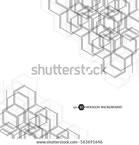 Abstract Molecule Background Hexagonal Chemistry Pattern