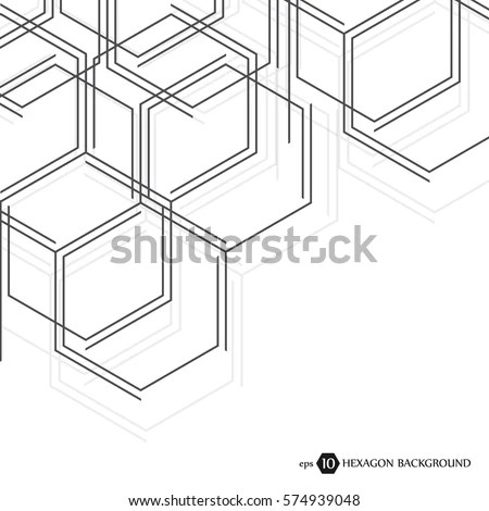 Hexagonal Business Pattern Scientific Medical Research