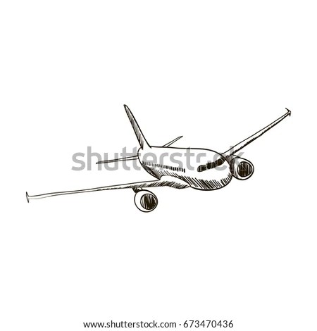 Airplane Sketch Stock Images, Royalty-Free Images