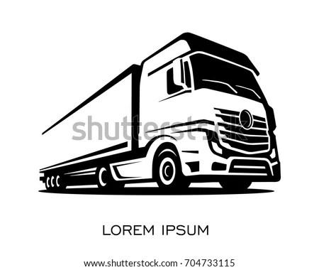Truck Silhouette Logo Vector Stock Vector 704733115